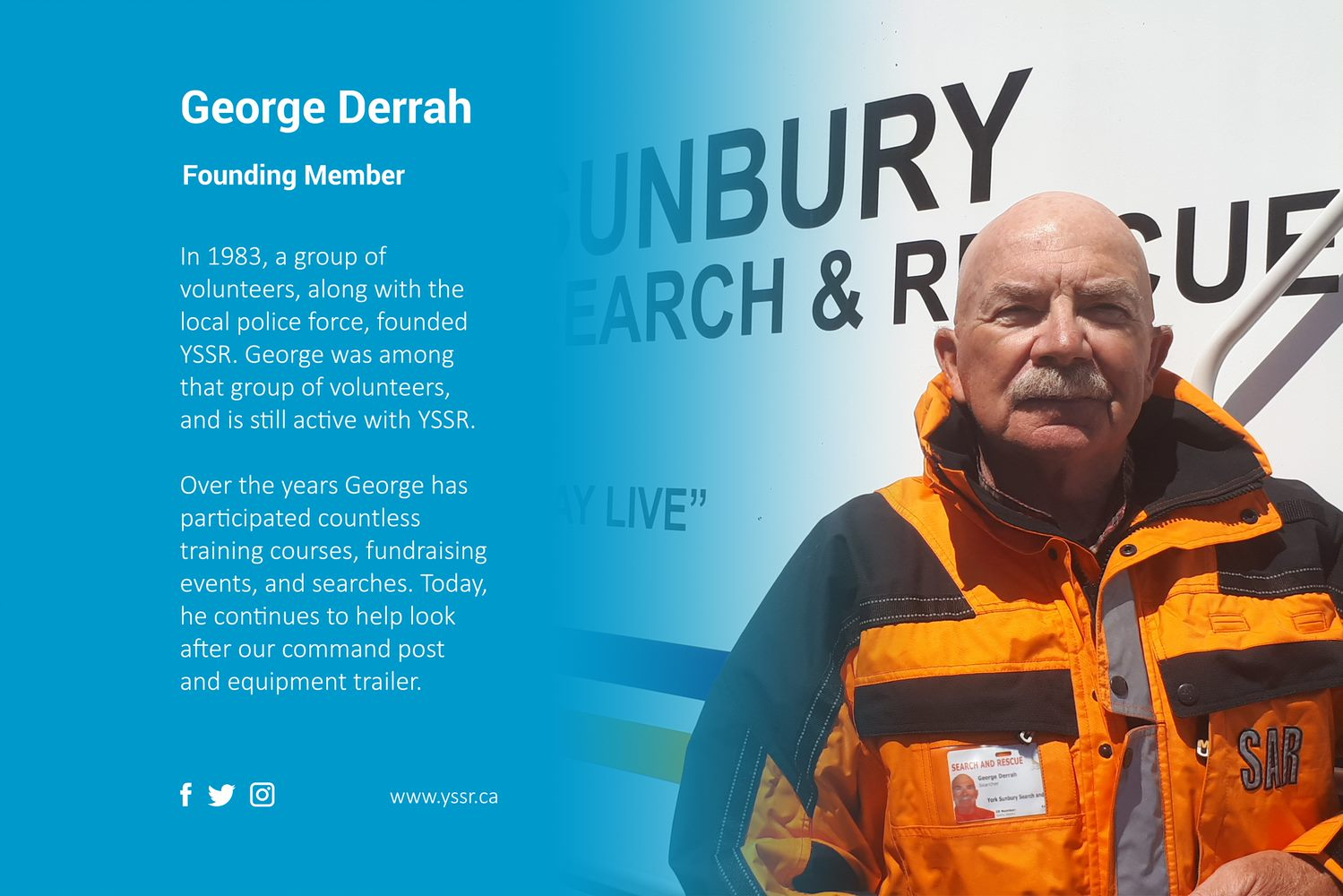 Founding member George Derrah highlight