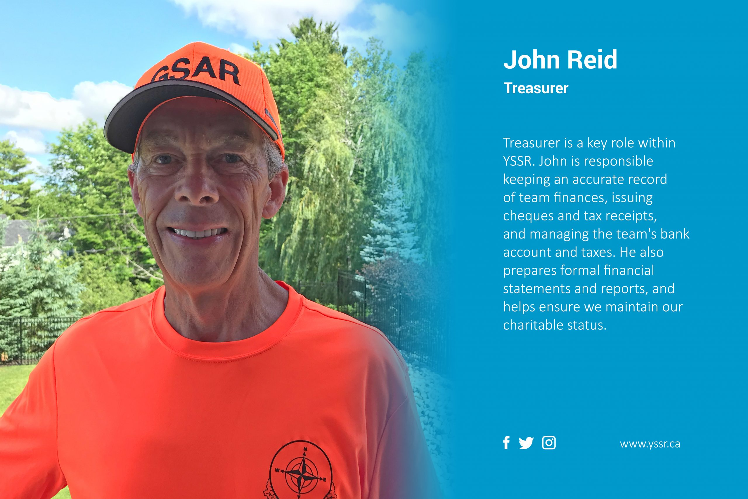 Treasurer John Reid highlight